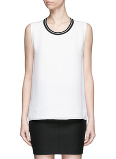 rag & bone 'Romy' sport stripe neck silk tank top
