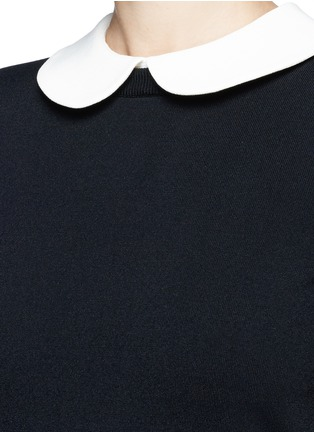 Detail View - Click To Enlarge - Valentino - Removable Peter Pan collar sweater dress