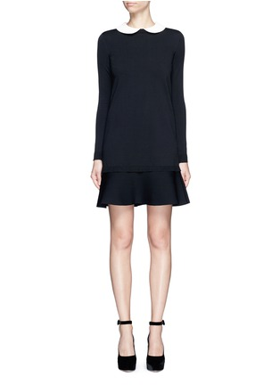 Main View - Click To Enlarge - Valentino - Removable Peter Pan collar sweater dress