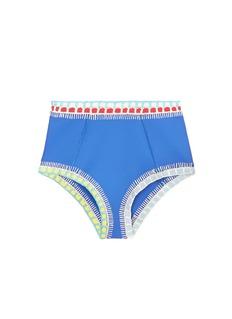 Kiini'Tuesday' crochet trim high waist bikini bottoms