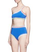 'Tuesday' crochet trim high waist bikini bottoms