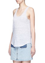 'Summer Stripe Canyon' linen-cotton tank top