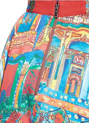 Detail View - Click To Enlarge - alice + olivia - 'Earla' Havana Town print flare skirt