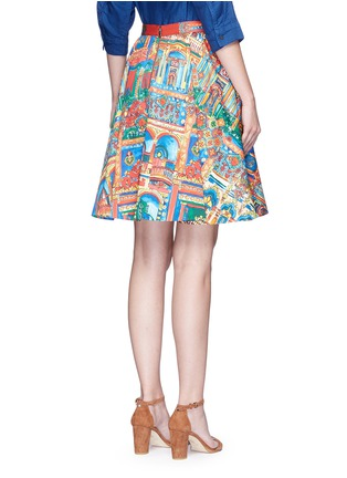 Back View - Click To Enlarge - alice + olivia - 'Earla' Havana Town print flare skirt