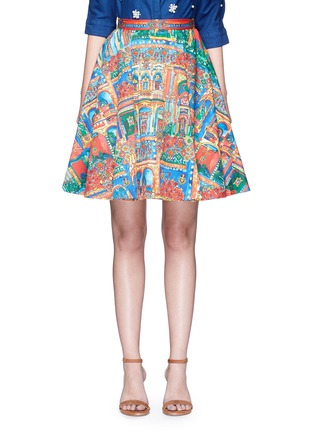 Main View - Click To Enlarge - alice + olivia - 'Earla' Havana Town print flare skirt