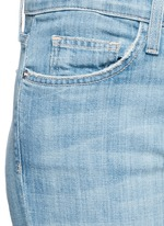 'The Cropped Straight' frayed hem jeans