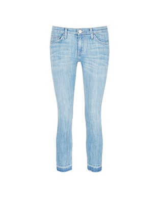 Main View - Click To Enlarge - Current/Elliott - 'The Cropped Straight' frayed hem jeans
