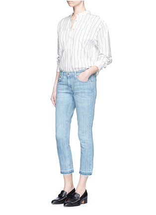 Figure View - Click To Enlarge - Current/Elliott - 'The Cropped Straight' frayed hem jeans