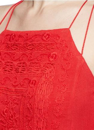 Detail View - Click To Enlarge - alice + olivia - 'Bev' floral embroidery halterneck dress