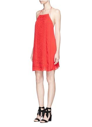 Figure View - Click To Enlarge - alice + olivia - 'Bev' floral embroidery halterneck dress