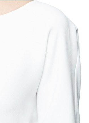 Detail View - Click To Enlarge - Vince - Rib cuff lasercut crepe blouse