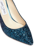 'Romy 85' dégradé glitter pumps