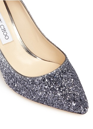 Detail View - Click To Enlarge - Jimmy Choo - 'Romy' dégradé coarse glitter pumps