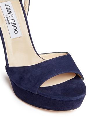 Detail View - Click To Enlarge - Jimmy Choo - 'Kayden' ankle strap suede platform sandals