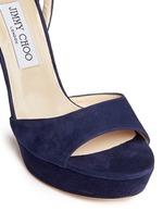'Kayden' ankle strap suede platform sandals