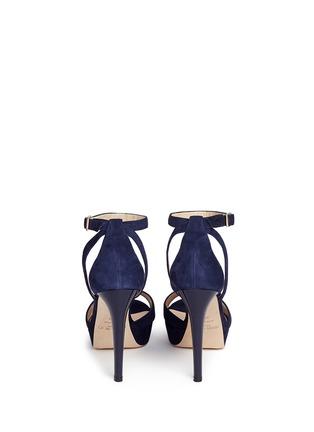 Back View - Click To Enlarge - Jimmy Choo - 'Kayden' ankle strap suede platform sandals