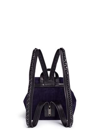Detail View - Click To Enlarge - Jimmy Choo - 'Suki' military star suede backpack