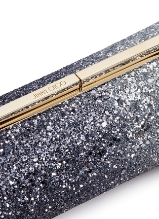 Detail View - Click To Enlarge - Jimmy Choo - 'Trinket' dégradé coarse glitter cylinder clutch