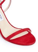 'Hesper 85' crisscross strap suede sandals