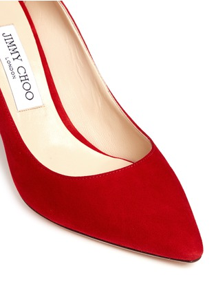 Detail View - Click To Enlarge - Jimmy Choo - 'Romy 85' suede pumps