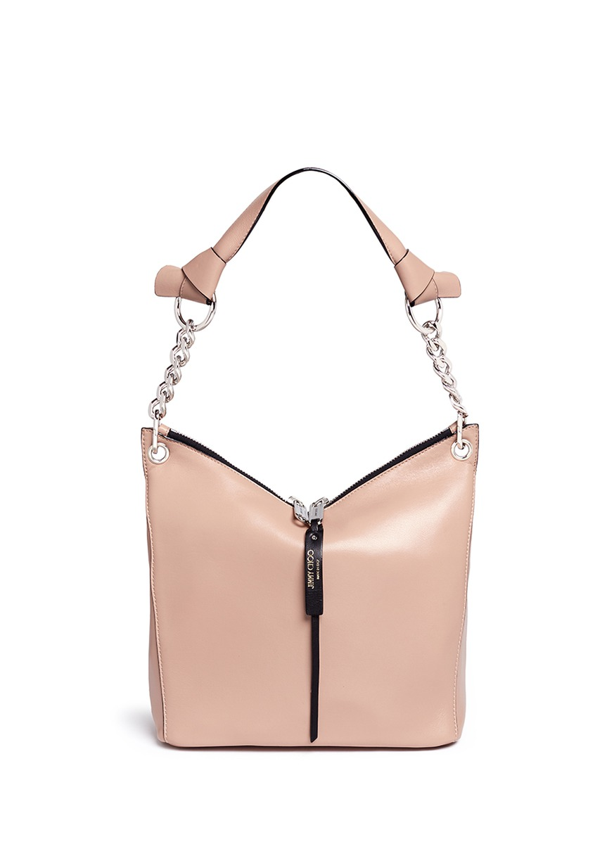 Raven small leather shoulder bag by Jimmy Choo