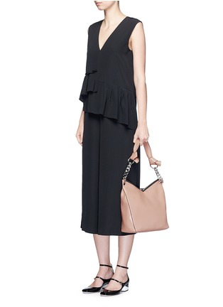 Figure View - Click To Enlarge - Jimmy Choo - 'Raven' small leather shoulder bag