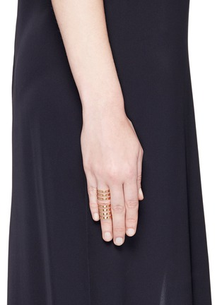 Figure View - Click To Enlarge - REPOSSI - 'Berbère' 18k rose gold seven row linked ring