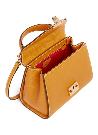 Detail View - Click To Enlarge - Mark Cross - 'Hadley Baby' leather flap bag