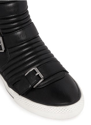 Detail View - Click To Enlarge - Ash - 'Vespa' quilted leather buckle sneakers