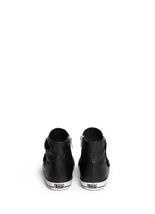Back View - Click To Enlarge - Ash - 'Vespa' quilted leather buckle sneakers
