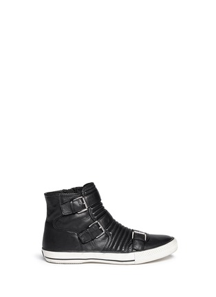 Main View - Click To Enlarge - Ash - 'Vespa' quilted leather buckle sneakers