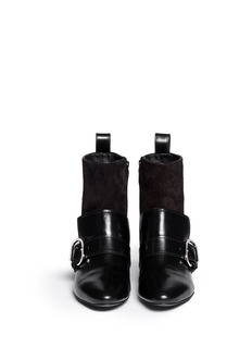 3.1 PHILLIP LIM'Louie' suede leather combo loafer boots
