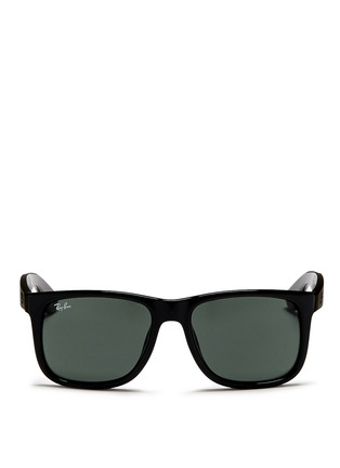 Main View - Click To Enlarge - Ray-Ban - 'Justin' square plastic sunglasses