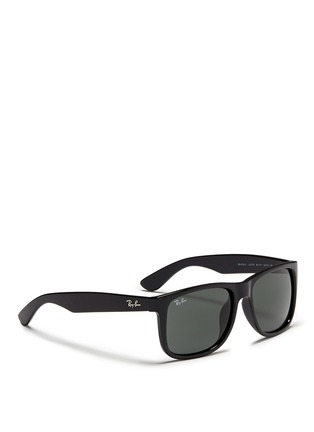 Figure View - Click To Enlarge - Ray-Ban - 'Justin' square plastic sunglasses