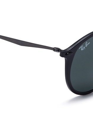 Detail View - Click To Enlarge - Ray-Ban - 'RB4224 Light Ray' titanium temple round sunglasses