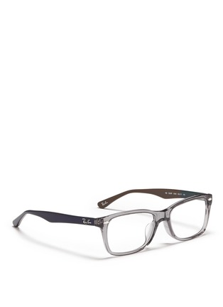 Figure View - Click To Enlarge - Ray-Ban - 'RB5228' colourblock acetate optical glasses