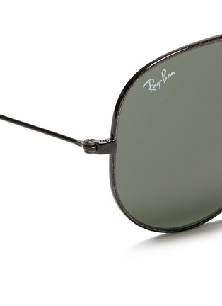 Detail View - Click To Enlarge - Ray-Ban - 'Aviator Distressed' contrast acetate metal sunglasses