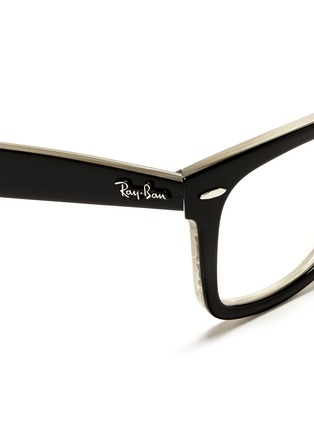 Detail View - Click To Enlarge - Ray-Ban - 'Original Wayfarer' contrast coating shell acetate optical glasses