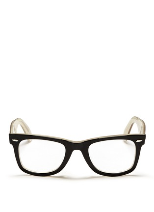 Main View - Click To Enlarge - Ray-Ban - 'Original Wayfarer' contrast coating shell acetate optical glasses