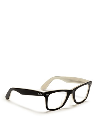 Figure View - Click To Enlarge - Ray-Ban - 'Original Wayfarer' contrast coating shell acetate optical glasses