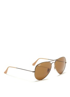 RAY-BAN 'Aviator Distressed' metal sunglasses