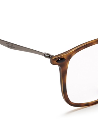 Detail View - Click To Enlarge - Ray-Ban - 'RB7051 Light Ray' titanium temple round optical glasses