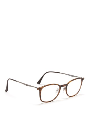 Figure View - Click To Enlarge - Ray-Ban - 'RB7051 Light Ray' titanium temple round optical glasses