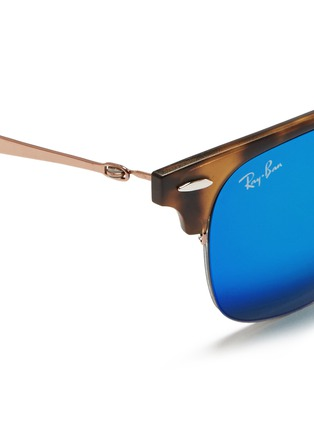 Detail View - Click To Enlarge - Ray-Ban - 'Clubmaster Light Ray' titanium temple matte browline sunglasses