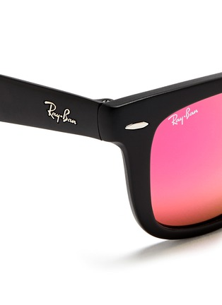 Detail View - Click To Enlarge - Ray-Ban - 'Wayfarer Folding Classic' mirror sunglasses