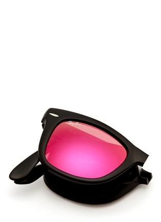 Detail View - Click To Enlarge - Ray-Ban - 'Wayfarer Folding Classic' mirror sunglasses
