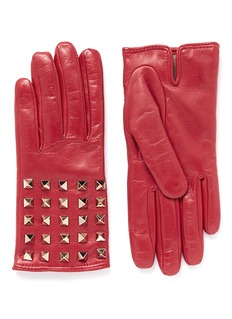 VALENTINO'Rockstud' leather gloves