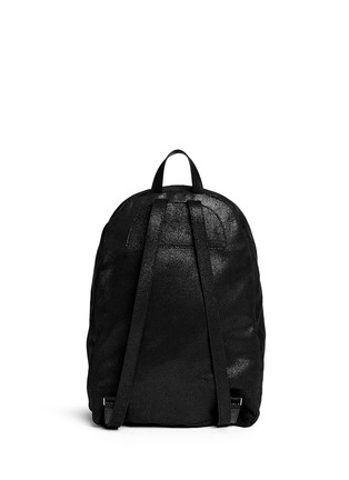 Back View - Click To Enlarge - Stella McCartney - 'Falabella' shaggy deer chain backpack