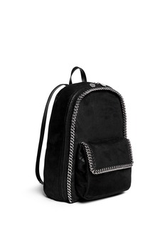 STELLA MCCARTNEY 'Falabella' faux shaggy deer chain backpack