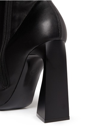 Detail View - Click To Enlarge - Stella McCartney - Triangle block heel mid calf boots